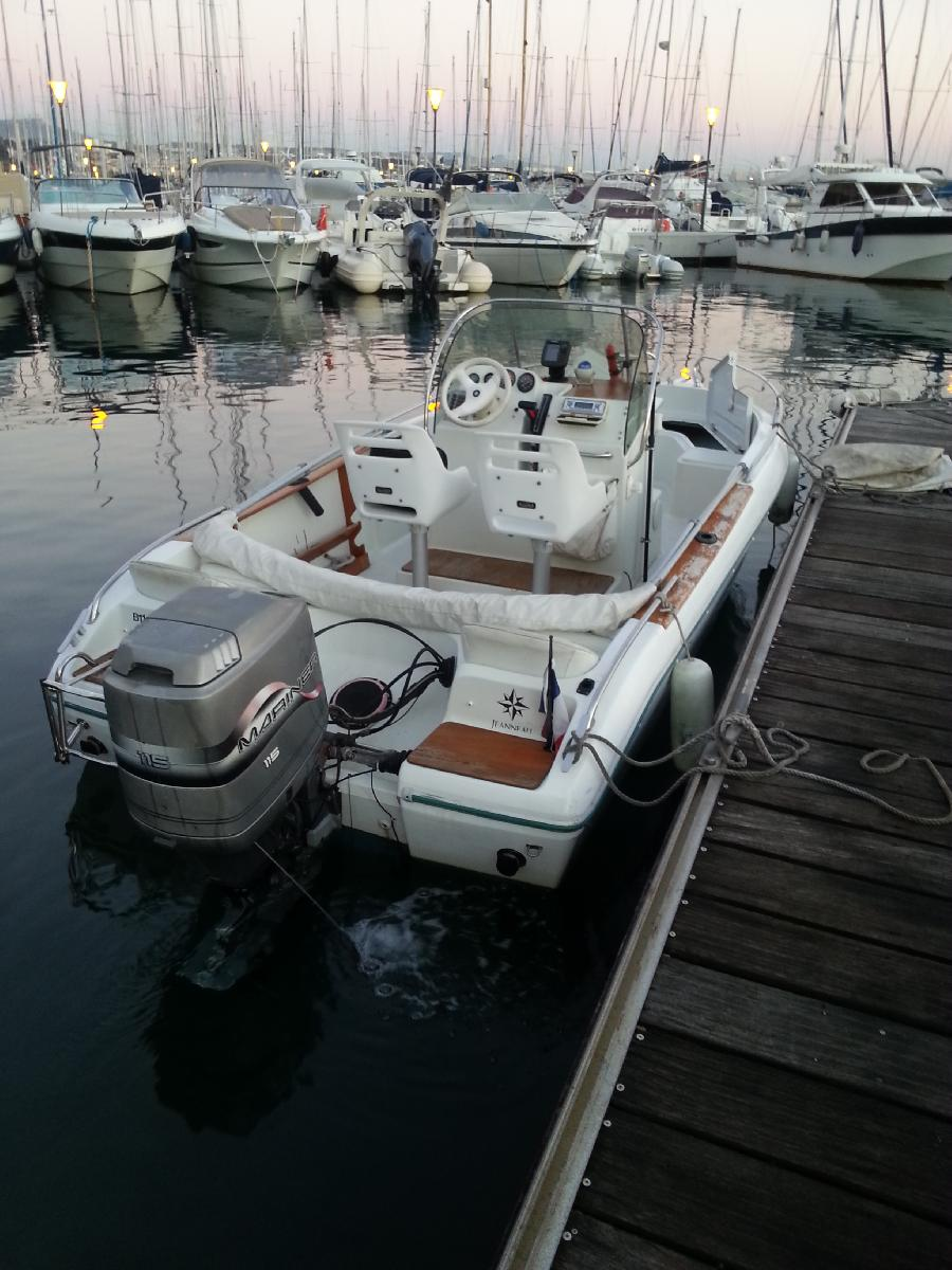 vends cap camarat 555 open   115cv mariner  ensemble 1996