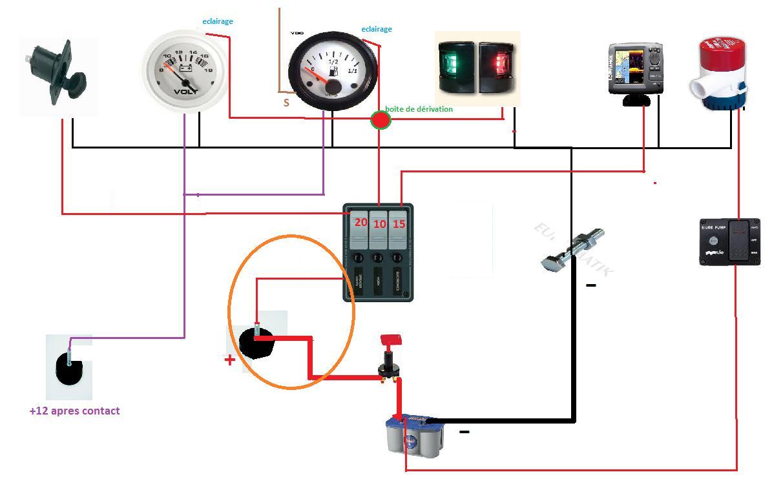 Installation electrique - Branchement coupe circuit 6 poles ...